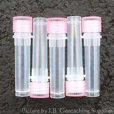 50 Geocaching Nano Containers (Plastic Bison Tubes, O-ring, Red Cap)