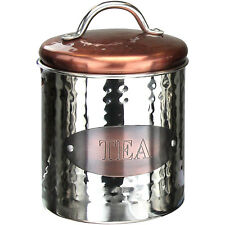 Vintage Retro Stainless Steel Tea Canister Kitchen Food Storage Container Jar