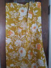 Bloomcraft Dupont Zepel StainRepeller Fabric Gold Floral Orig Screen Print 2+yds