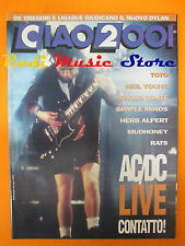rivista CIAO 2001 49/1992 AC/DC Toto Neil Young Simple Minds Bob Dylan * No cd