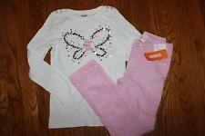 NWT Gymboree Cozy Fairytale Size 7 Set Sequin Butterfly Top Pink Corduroy Pants