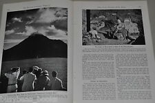 1940 magazine articles SABA, Caribbean Island, Netherlands Antilles, color photo