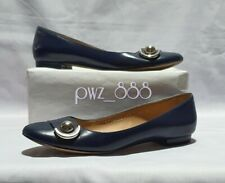 SALVATORE FERRAGAMO Blue Doll shoes Ballerina Flats Size 6 1/2