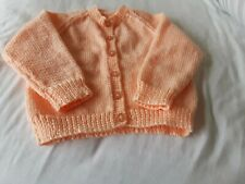 Hand Knitted Girl's Peach Cardigan - New