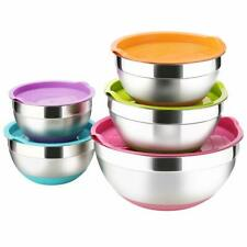 Mixing bowl mix bowl stainless silicone base 5PC set w lidnot pyrex corelle