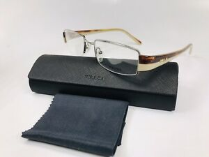🔹New PRADA VPR 74H 78S-1O1 Transparent Havana & Beige Eyeglasses 51mm with Case