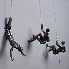 Handmade Global View Iron Man Climbing Rope Wall Mounted Art Sculpture Climber