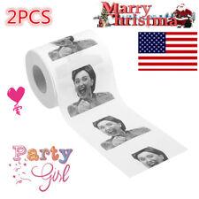 2pcs Xmas Hillary Clinton Toilet Paper Tissue Funny Roll Prank Joke Gift 2Ply US