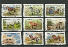 La france récent le lot-Chevaux used stamps