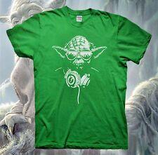 DJ YODA T-Shirt STAR WARS Jedi Darth Vader Baby Poster Force Awakens Empire