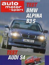 BMW B3 S ALPINA AUDI S4 B6 Test Testbericht Prospekt Brochure Sonderdruck 52