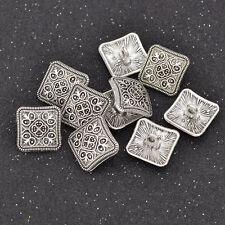 8pc 18mm Silver /& Glitter Square Metal Blazer Coat Cardigan Knitwear Button 3730