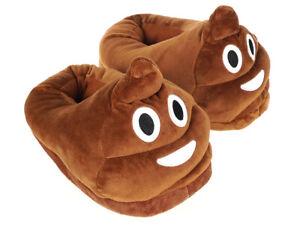 Witzige Emoji Kothaufen Hausschuhe Schuhe Pantoffeln Schlappen Erwachsene Braun