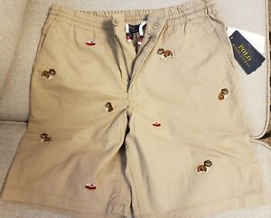 Polo Ralph Lauren bulldogs embroidered chino shorts Sz 18 youth NWT$54.99