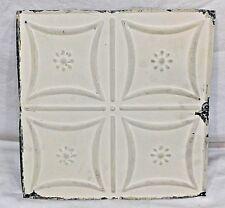 """Antique 1800's 12"""" x 12"""" TIN CEILING Tile Victorian Framed Floral Design ORNATE"""