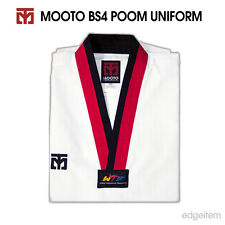 Mooto Bs4 Uniform with Poom V-Neck (Black&Red) Tkd Taekwondo Wtf Dobok
