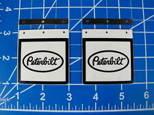 "Pair Toy Mud Flap Guard Mount Plate ""Peterbilt"" Tamiya RC 1/14 King Grand Hauler"