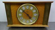 Ältere elektromechanische Tischuhr Hermle - mantle clock made in Germany ~ 60er