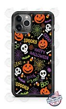 Spooky Happy Halloween Phone Case For iPhone i11 Samsung S20 LG G8 Google 4XL
