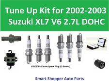 Tune Up Kit for 2002 - 2003 Suzuki XL7 V6 2.7L Spark Plug, PCV Valve, Oil Air Fi