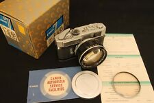 Canon  rangefinder  model 7 with Canon 50mm f 0,95  Mint w/ box and papers