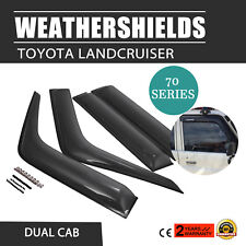 Protector Weathershields For Toyota Landcruiser 70 Series Visors Dual Cab