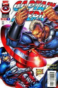 CAPTAIN AMERICA #4 FALCON SIGNED BY ARTIST ROB LIEFELD