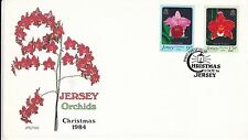 Jersey 1984 christmas Jersey Orchids FDC Unaddressed VGC