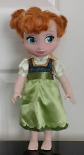 "Disney Store 15"" FROZEN ANNA ANIMATOR Muñeca Toddler Princesa Disney"