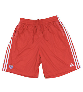 New Adidas XL NBA Detroit Pistons Team Issued Practice Basketball Shorts Red