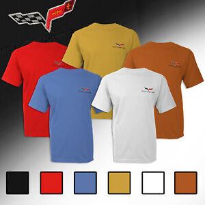 2005-2013 Corvette C6 Crew Neck T-Shirt w/ C6 Embroidered Emblem 619989
