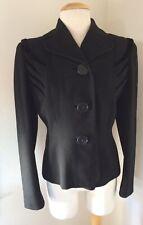 Vintage Jj Hagerty B.H. California Short Wool Black Jacket Sz Small Union Made