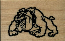 """mounted rubber stamps Bulldog small size wood mount  1 1/4"""" X 1 3/4"""""""