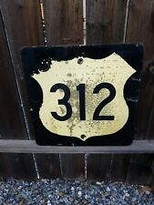 """Montana highway federal 312 road route sign 24"""" x 24"""" vintage"""