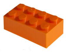 200 Pieces Generic Orange 2x4 bricks Building blocks
