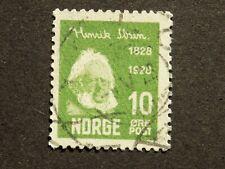 (1) used Norwegian stamp off paper Scott # 132-Henrik Ibsen
