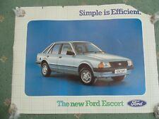 Genuine original Ford escort Mk3 saloon showroom poster  x