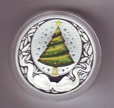 2008 MERRY CHRISTMAS SILVER PROOF $1 SILVER Coin Tuvalu Perth Mint Australia