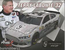 "2013 TERRY LABONTE ""C&J ENERGY SERVICES #32"" NASCAR SPRINT CUP POSTCARD"
