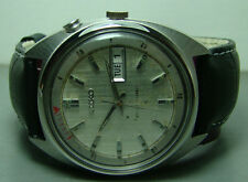 VINTAGE SEIKO BELLMATIC ALARM AUTOMATIC DAY DATE 430467 USED SILVER DIAL WATCH