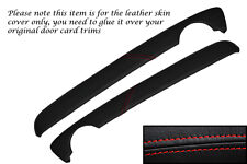 RED STITCH FITS MG MG TF MK2 2001-2006 2X TOP DOOR CARD TRIM LEATHER COVERS ONLY