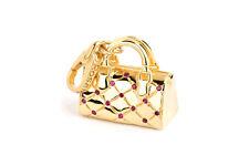 Ciondolo borsa Rosato Charm argento placcato oro zirconi ba005