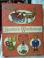 Easy Papercraft Santa's Workshop Paper Toys Christmas Crafts Fun Kit New Sealed