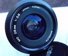 MINOLTA 28mm 2.8 MD Lens
