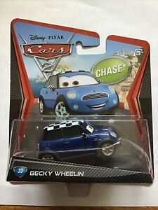 Disney Pixar Cars 2 CHASE Becky Wheelin #33 MINI COOPER VHTF AND AWESOME