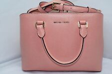 New Michael Kors Savannah Satchel Shoulder Bag Peach Tote Leather