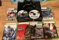 Xbox 360 S 250 GB Bundle Console Black + 1 Pad + 8x Games- USED FAST POST