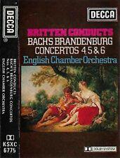 Bach Benjamin Britten Brandenburg Concertos 4 5 & 6 CASSETTE ALBUM E.C.O