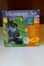 NIB Science Tech Microscope Set  100x - 300x - 600x Includes Instructional CD