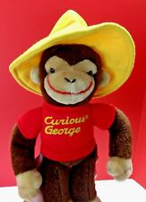 Vintage Gund Curious George Yellow Hat Plush Stuffed Toy Margret Rey 1990 15""